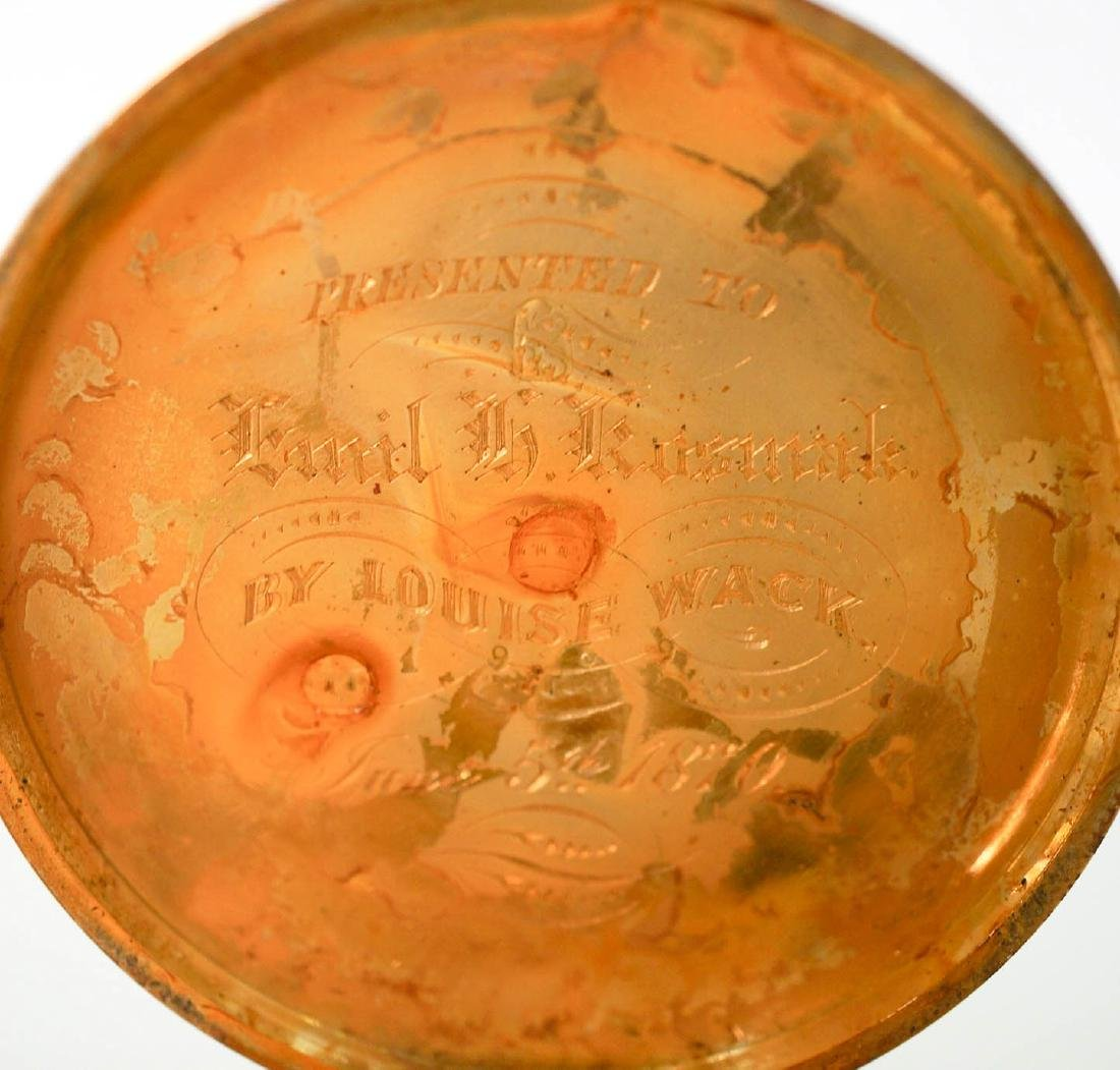 English 18k Gold Pocket Watch for Parts or Repair - 4