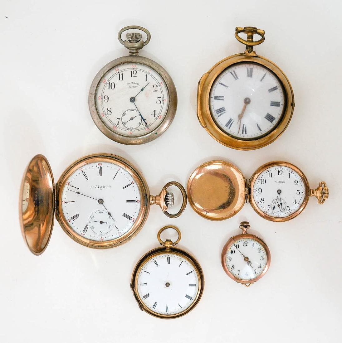 A Group of Six Antique Watches For Parts or Repair