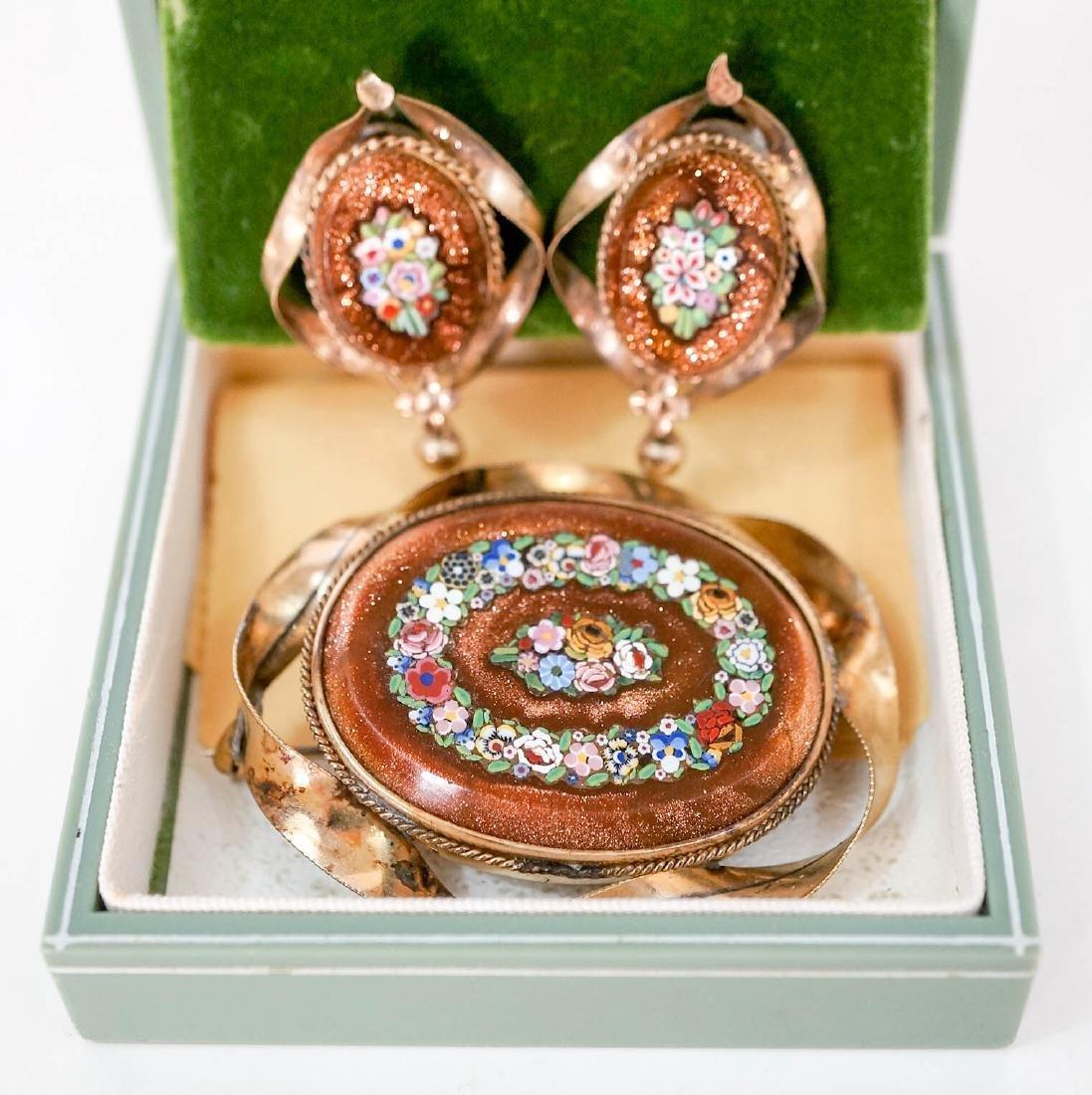 Victorian Goldstone Pietra Dura Micro Mosaic