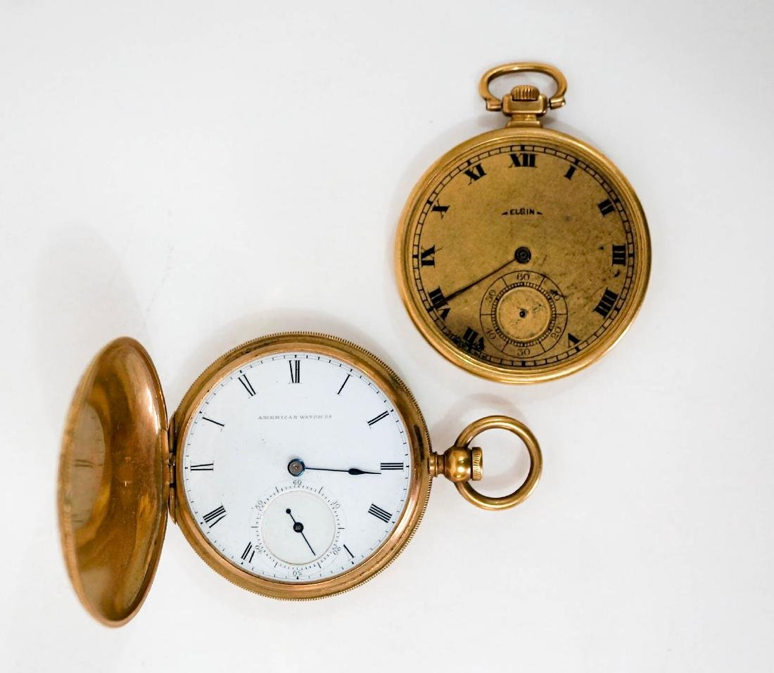Two Vintage Pocket Watches, 18k and Elgin