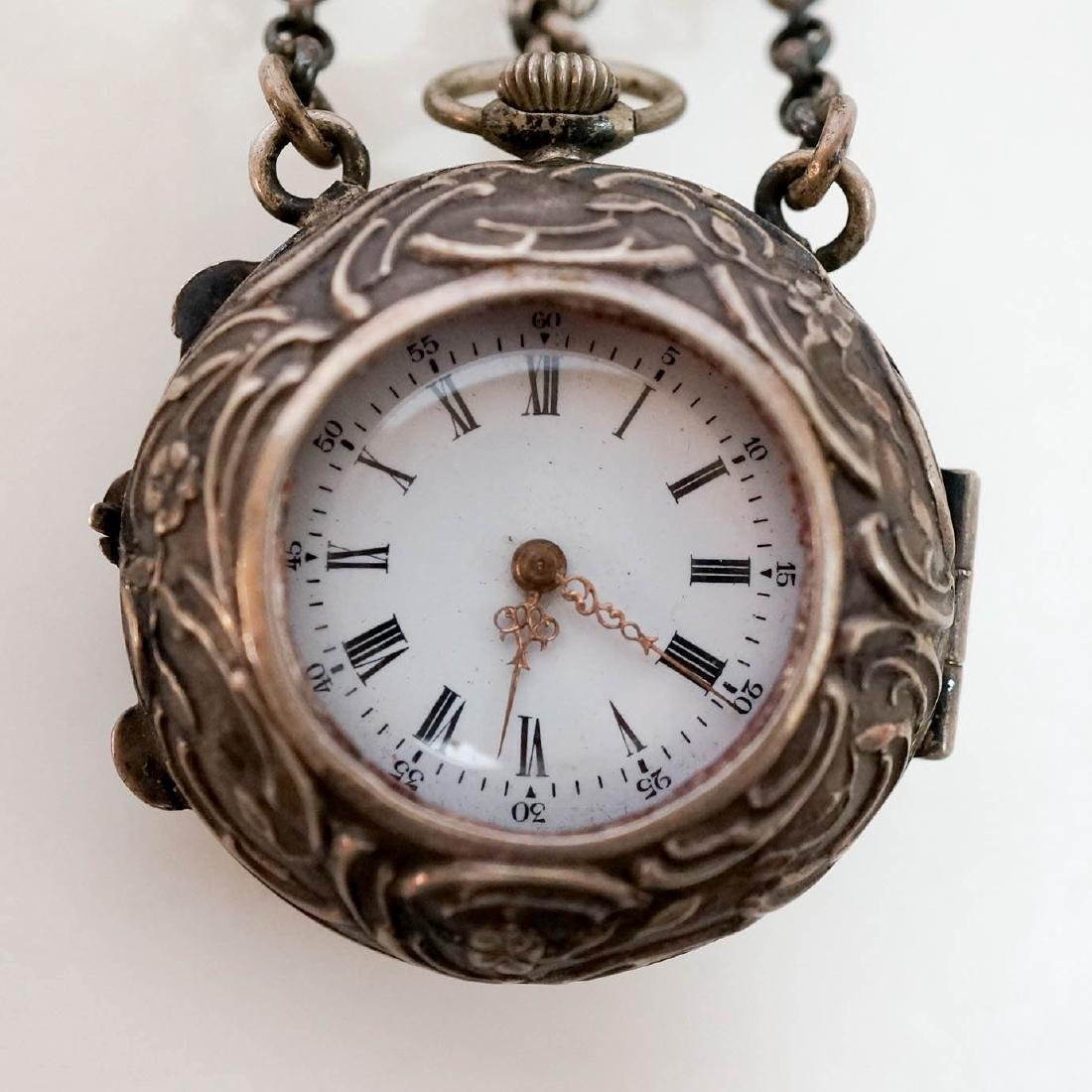 Late 18th C./19th C. Silver Chatelaine Watch Case - 2