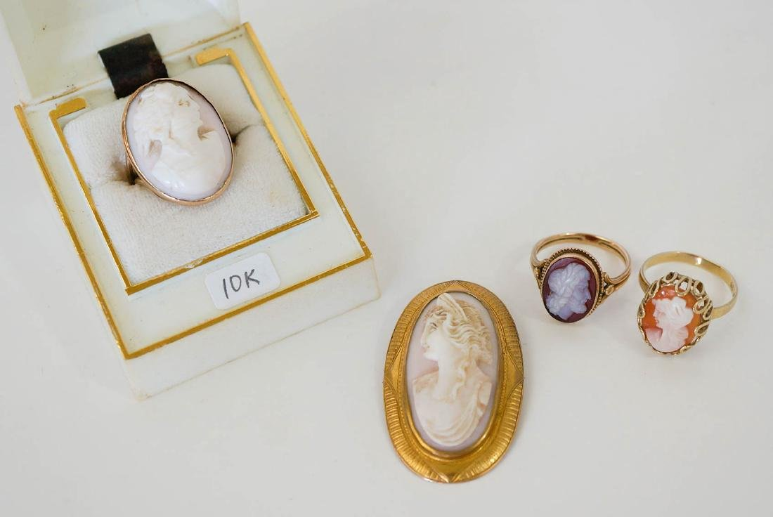 Estate Group of Antique Cameo Jewelry