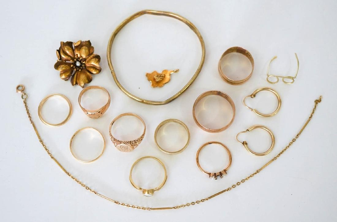 Estate Lot of 14k Gold Jewelry, 42 Grams