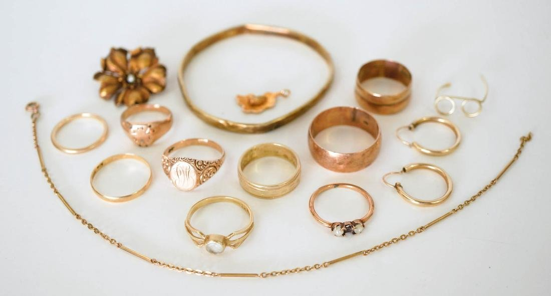 Estate Lot of 14k Gold Jewelry, 42 Grams - 2