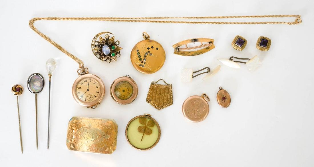 Estate lot of Vintage Gold Filled Jewelry