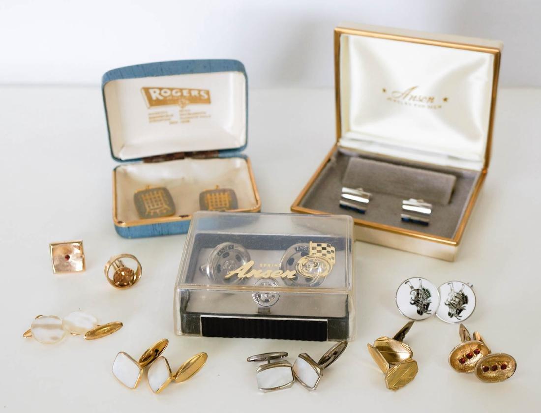 Estate Group of Vintage Men's Cufflinks