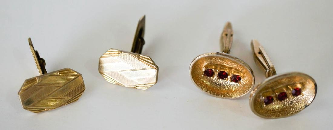 Estate Group of Vintage Men's Cufflinks - 5