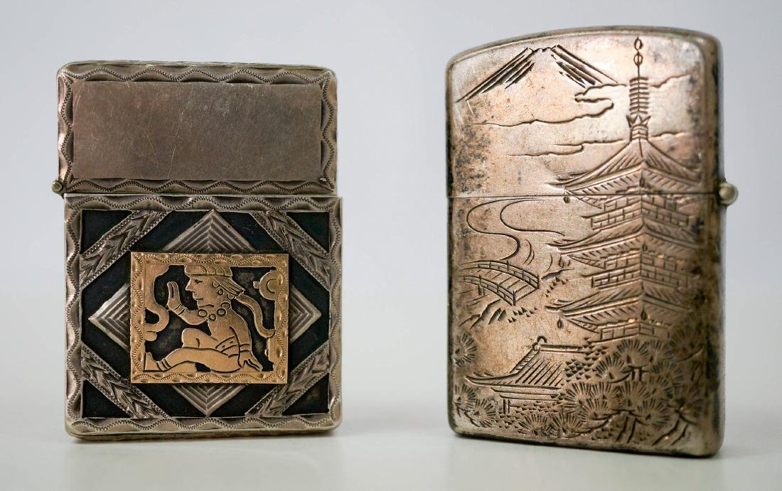 Two Vintage Sterling Lighters, WWII