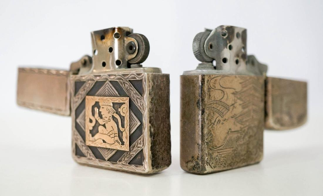Two Vintage Sterling Lighters, WWII - 3