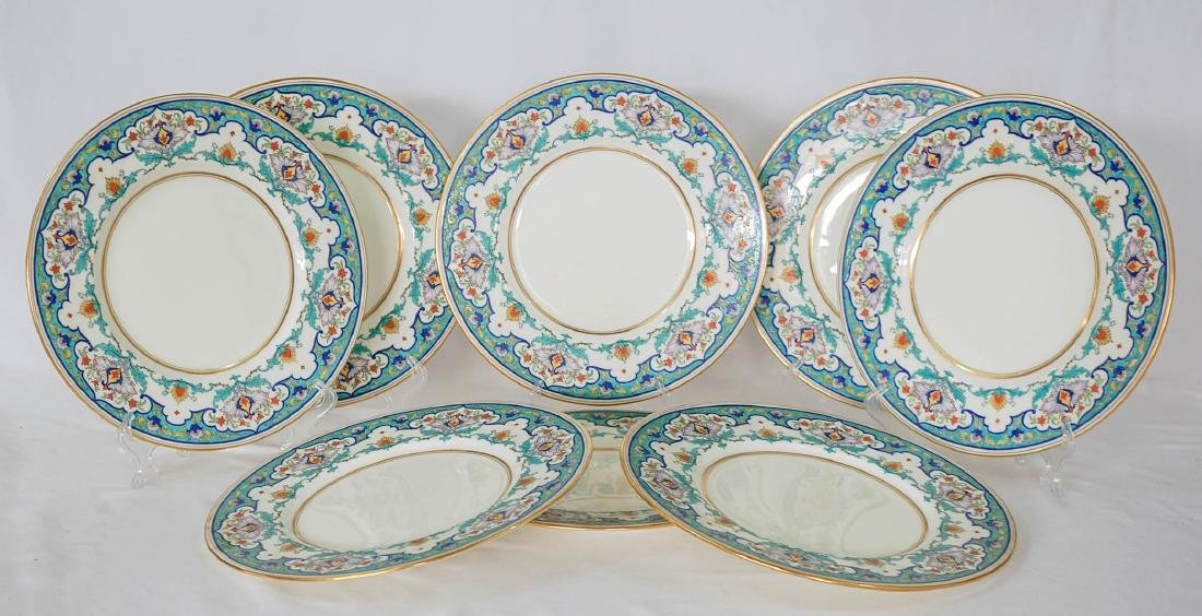 Eight Floral Mintons Plates H2922