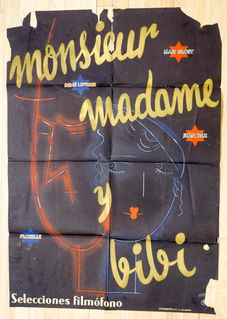 Monsieur Madame Bibi French Poster, c.1930's
