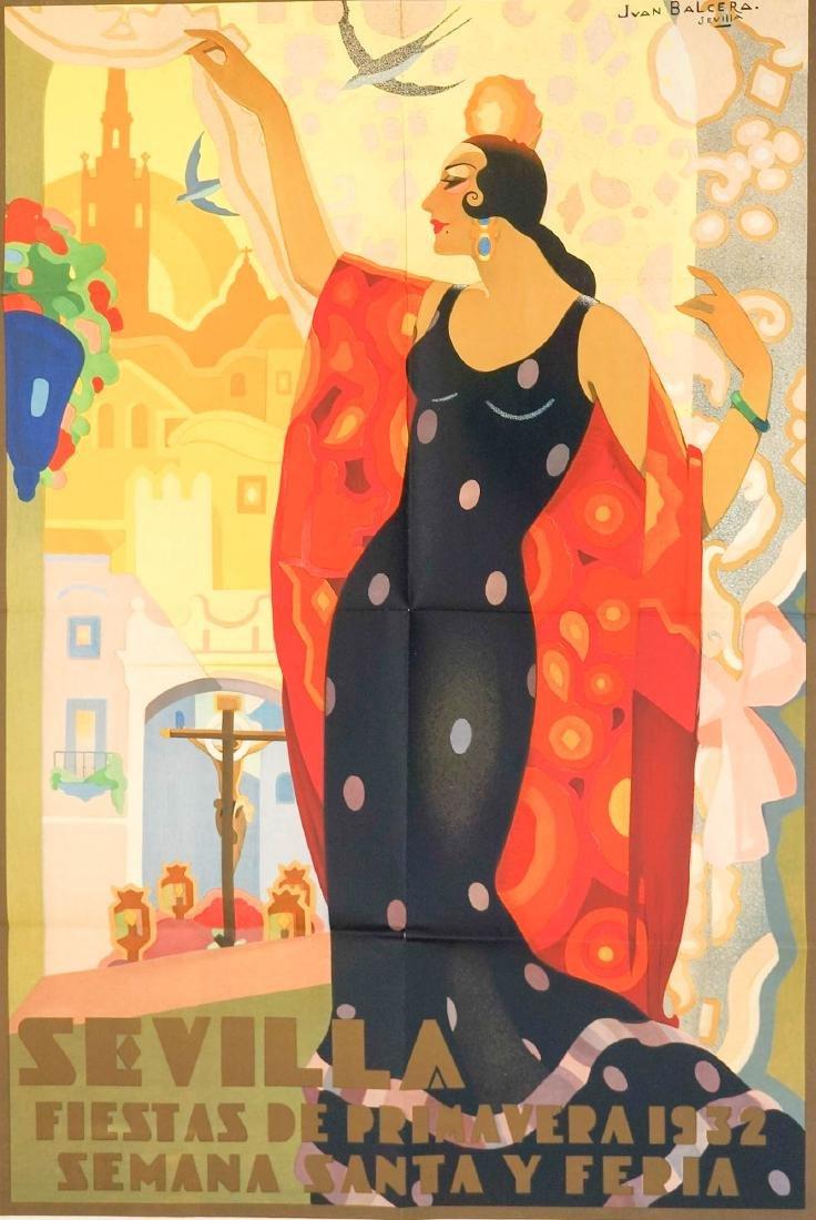 Seville, Spain Poster by Jean Balcera, 1932