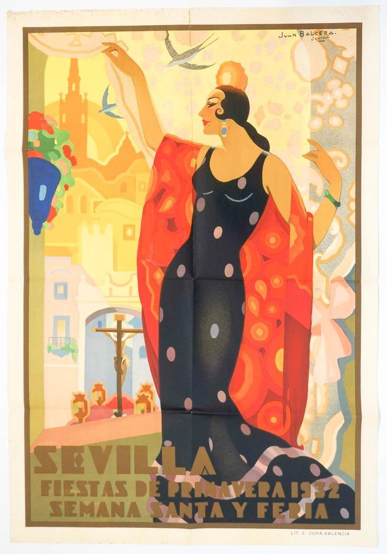 Seville, Spain Poster by Jean Balcera, 1932 - 2