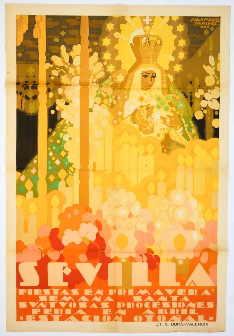 Juan Miguel Sanchez Original Poster, Seville, 1930 - 2