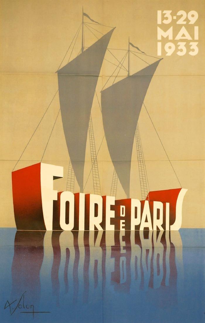 Leon Victor Solon Original Poster, Dated 1933