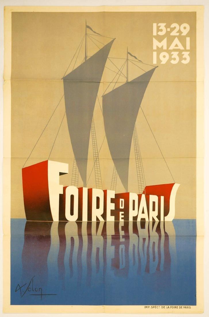 Leon Victor Solon Original Poster, Dated 1933 - 2
