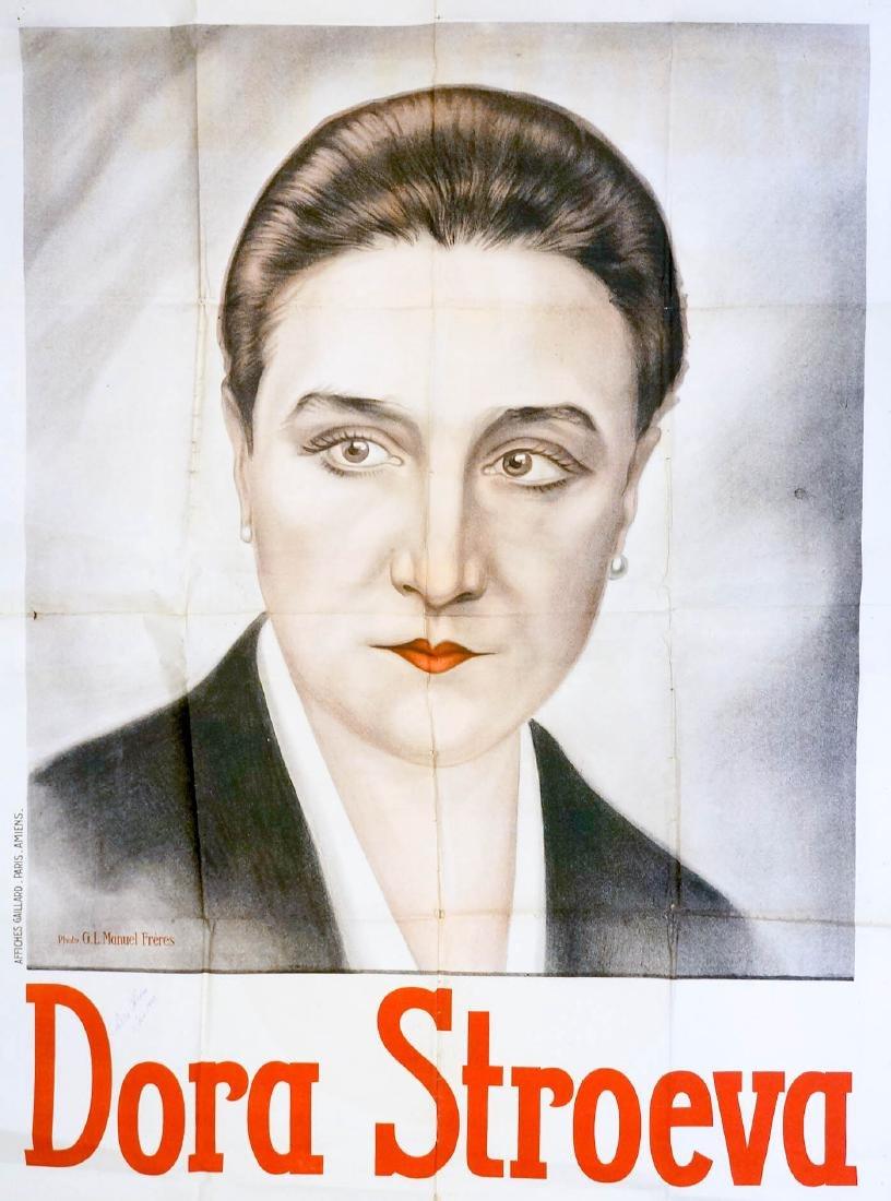 G.L. Manuel Freres Dora Stroeva Signed Poster