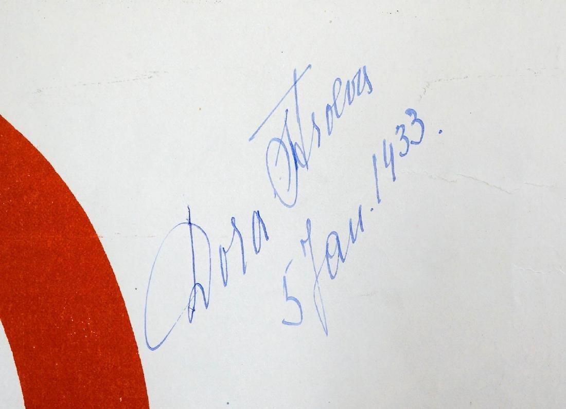 G.L. Manuel Freres Dora Stroeva Signed Poster - 2