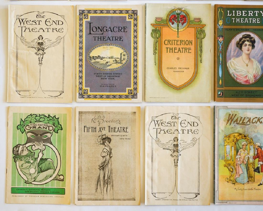 Antique Theater Programs, New York - 2