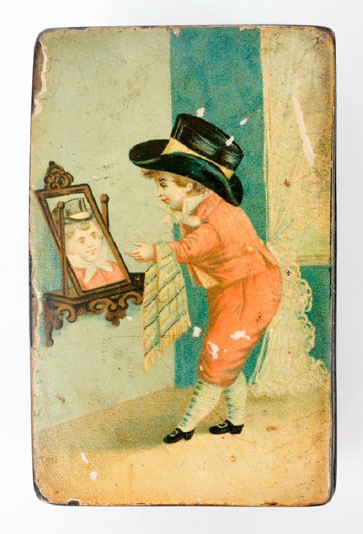 Antique Decorated Lacquer Box