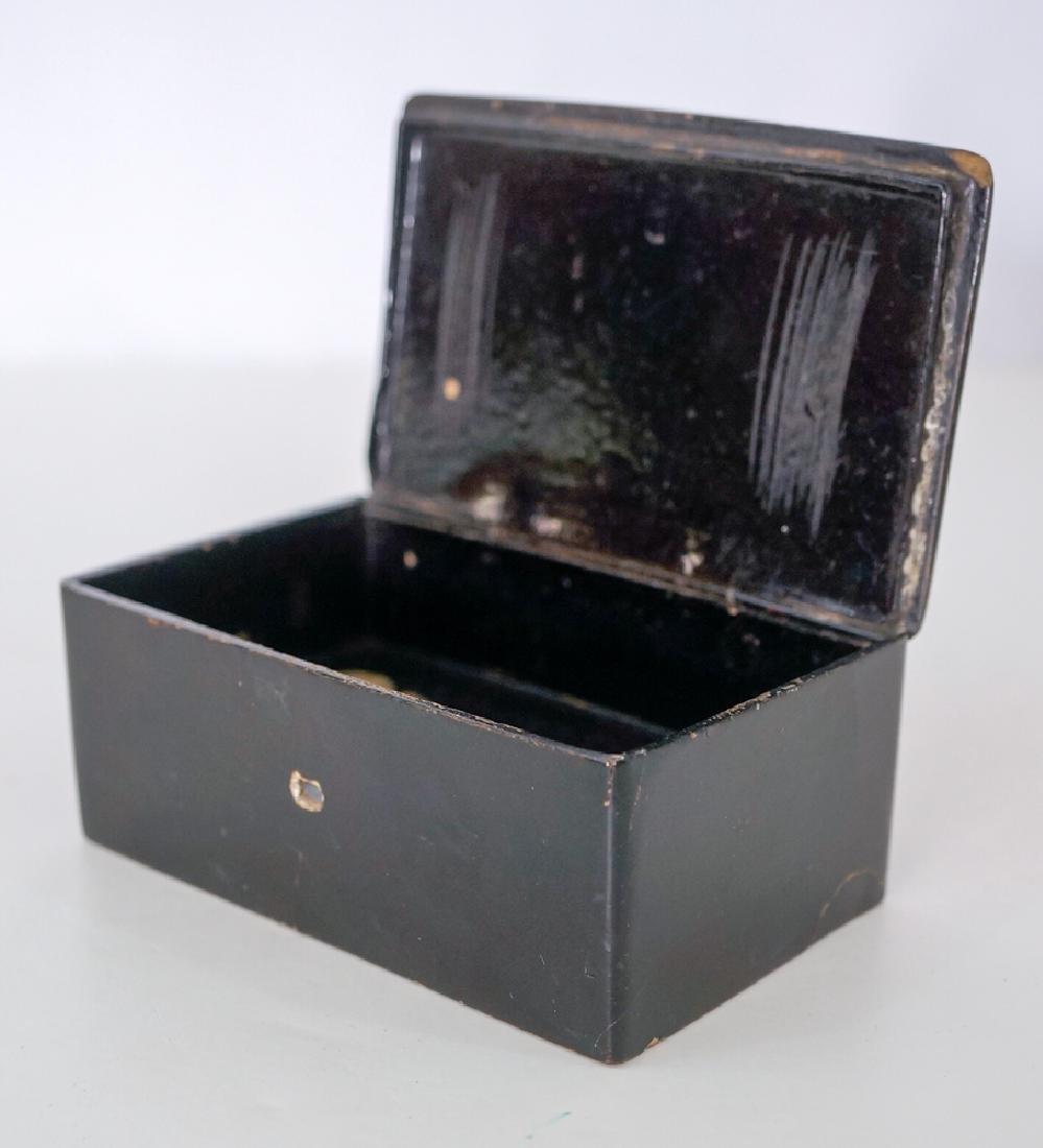 Antique Decorated Lacquer Box - 2