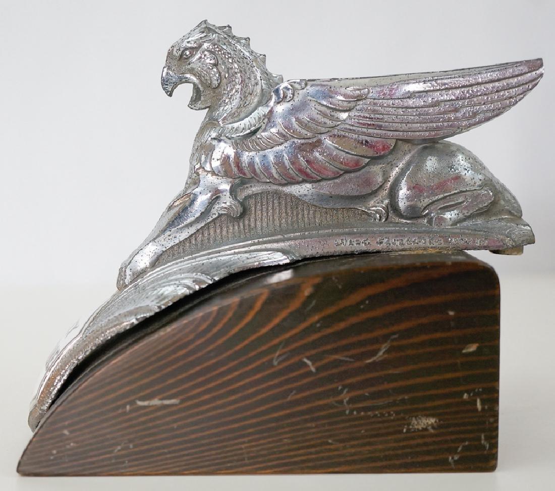 Vintage Essex Terraplane Six Griffin Hood Ornament - 2