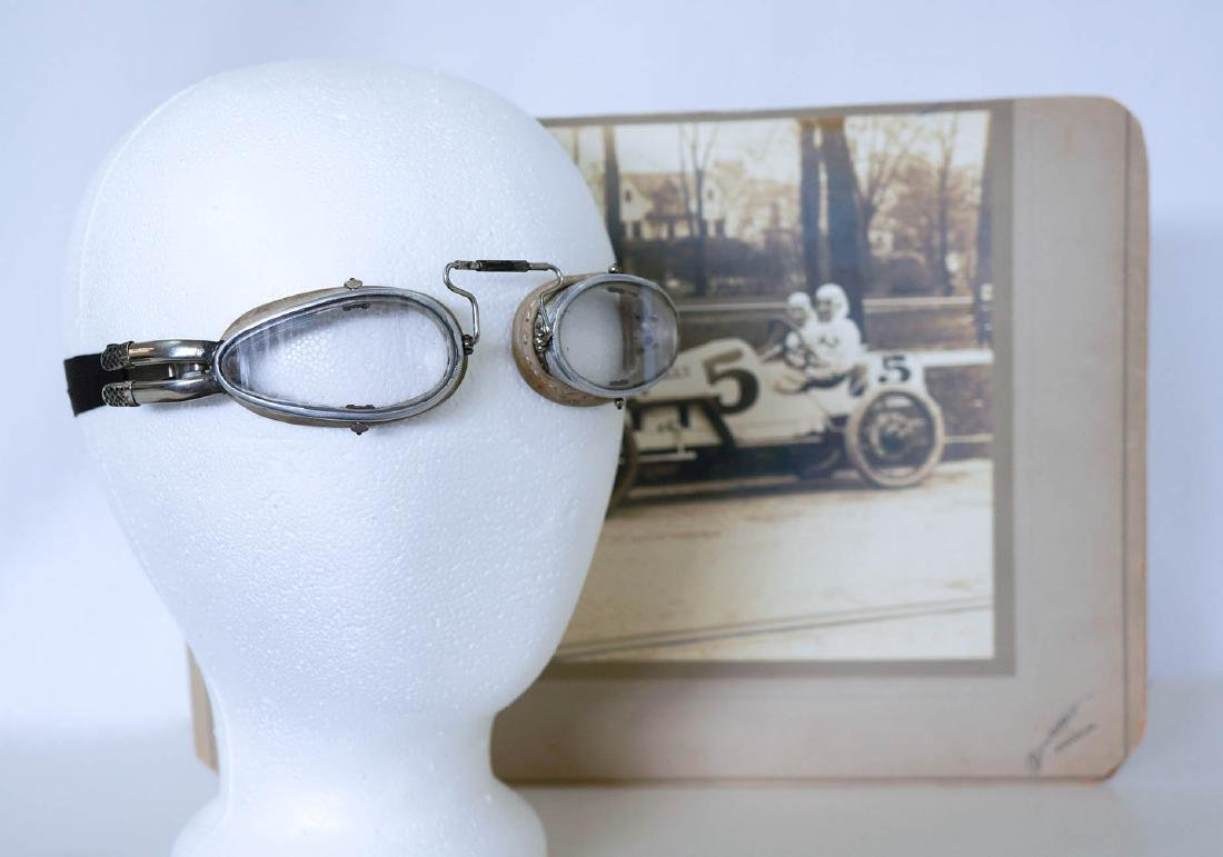 1914 Indy 500 Charles Rogers Race-Used Goggles - 2