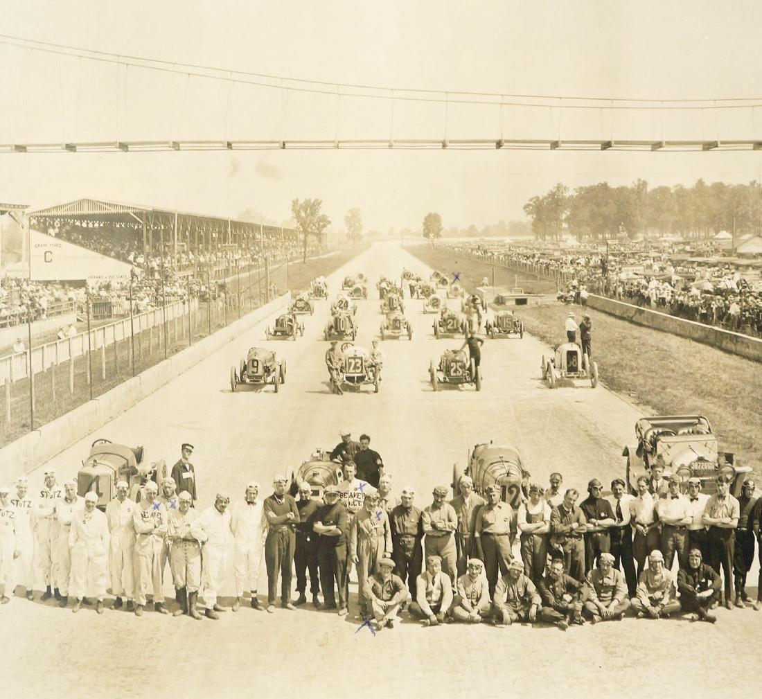 1914 Original Indy 500 Panoramic Photograph - 5