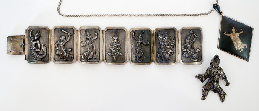 Group of Siam Sterling Jewelry