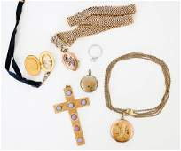 Gold Filled Lockets Slide Chain Cross and More