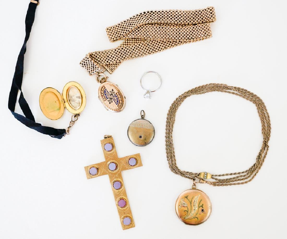 Gold Filled Lockets, Slide Chain, Cross and More