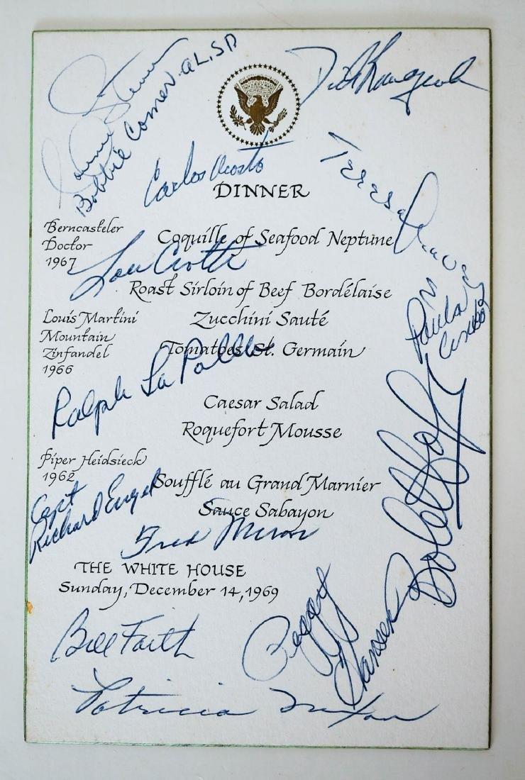 White House Dinner Menu Signed, Richard Nixon - 2