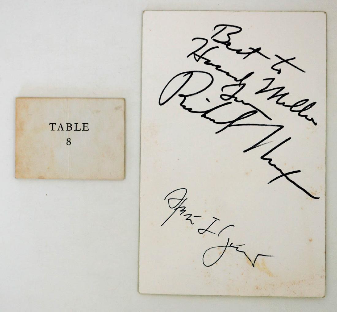 White House Dinner Menu Signed, Richard Nixon - 3