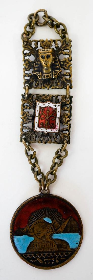 Vintage Egyptian Revival Watch Fob