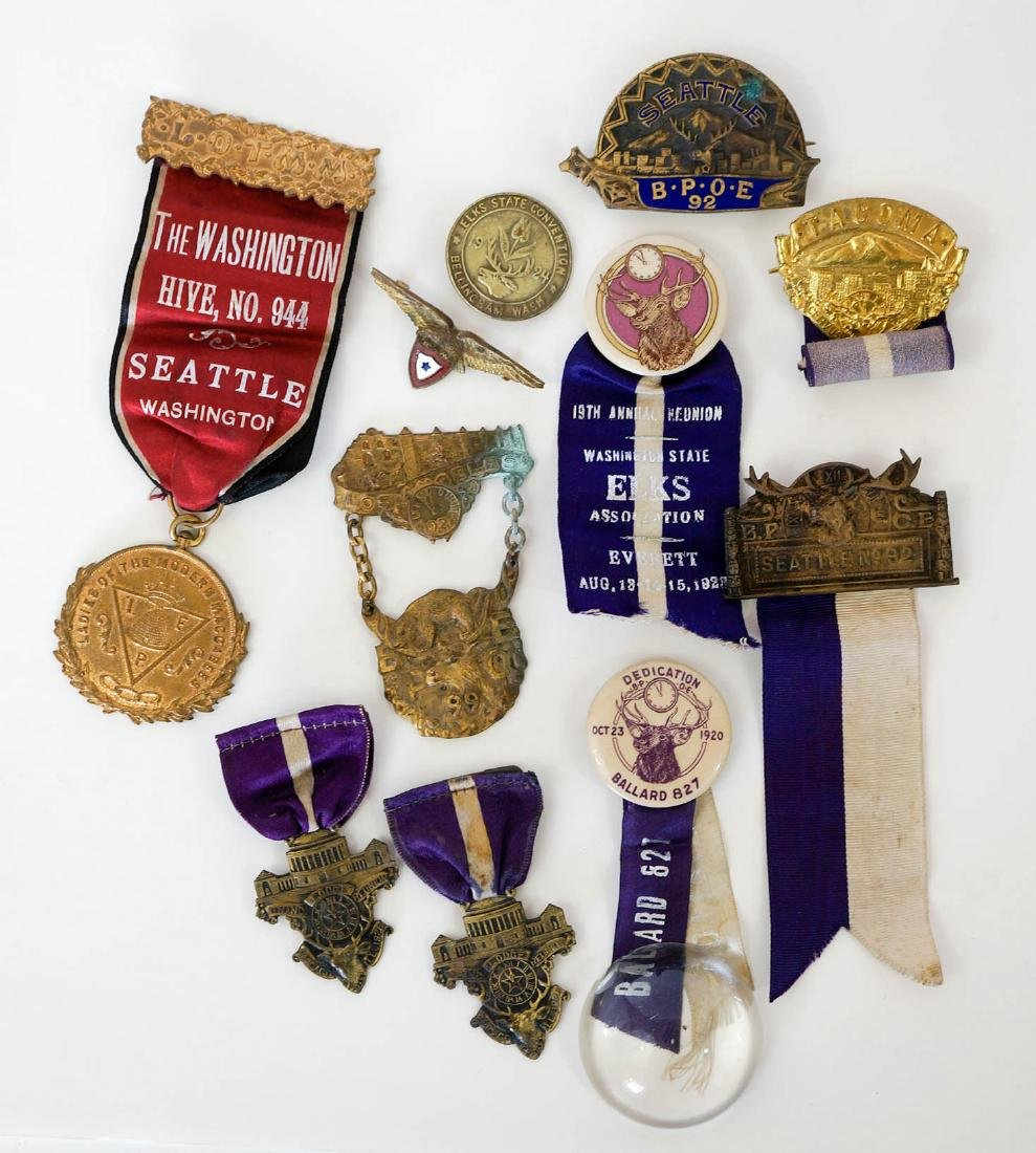 Group of 11 Washington Fraternal Medals