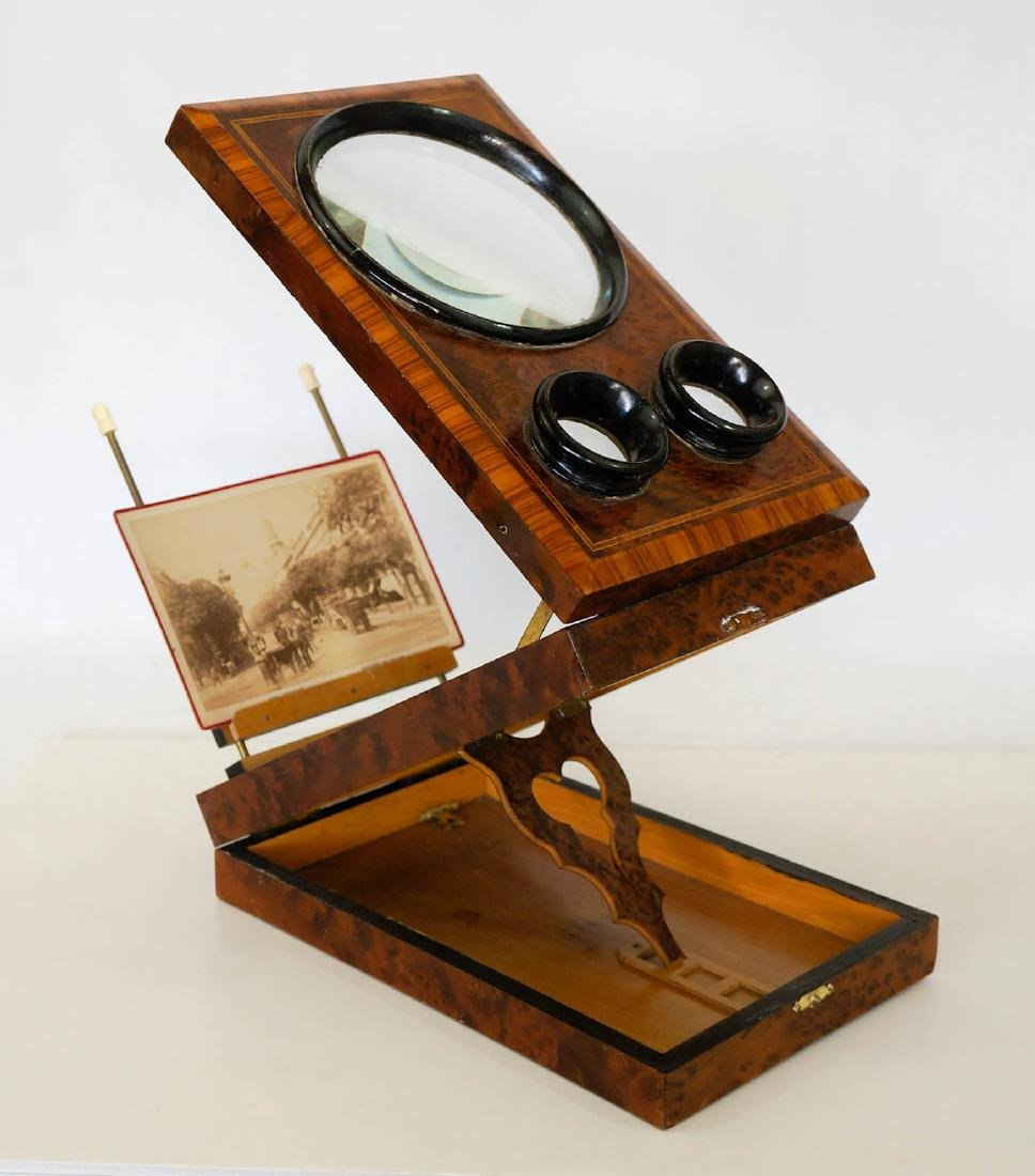 Antique French Burl and Ebonized Graphoscope