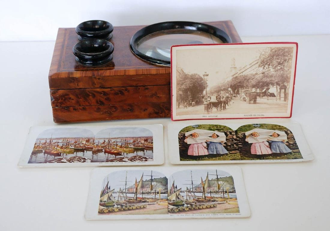 Antique French Burl and Ebonized Graphoscope - 4