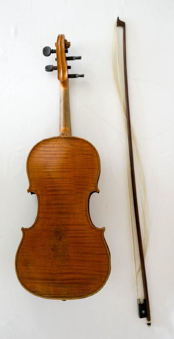 Antique 4/4 Violin with Bow and Case - 2