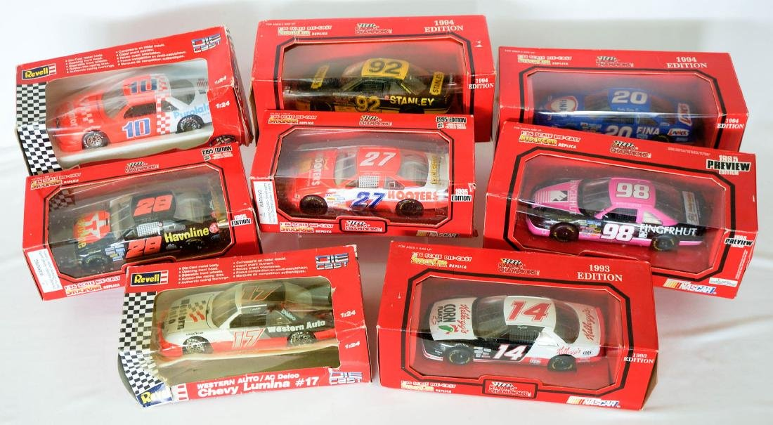 Group of Eight Die-cast Cars