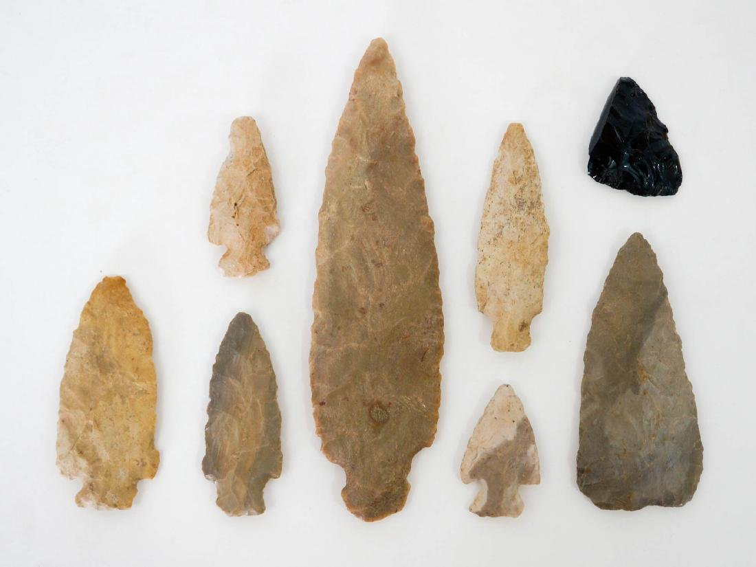 Group of Twenty Seven Stone Arrowheads, Points - 2