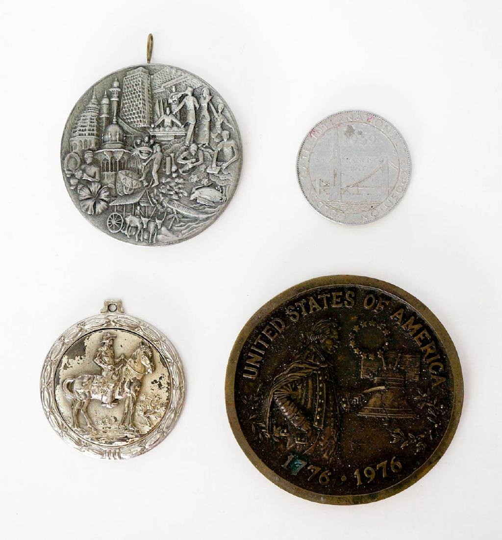 Group of Advertising Plaques and Medals - 2