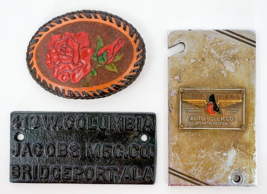 Group of Advertising Plaques and Medals - 3