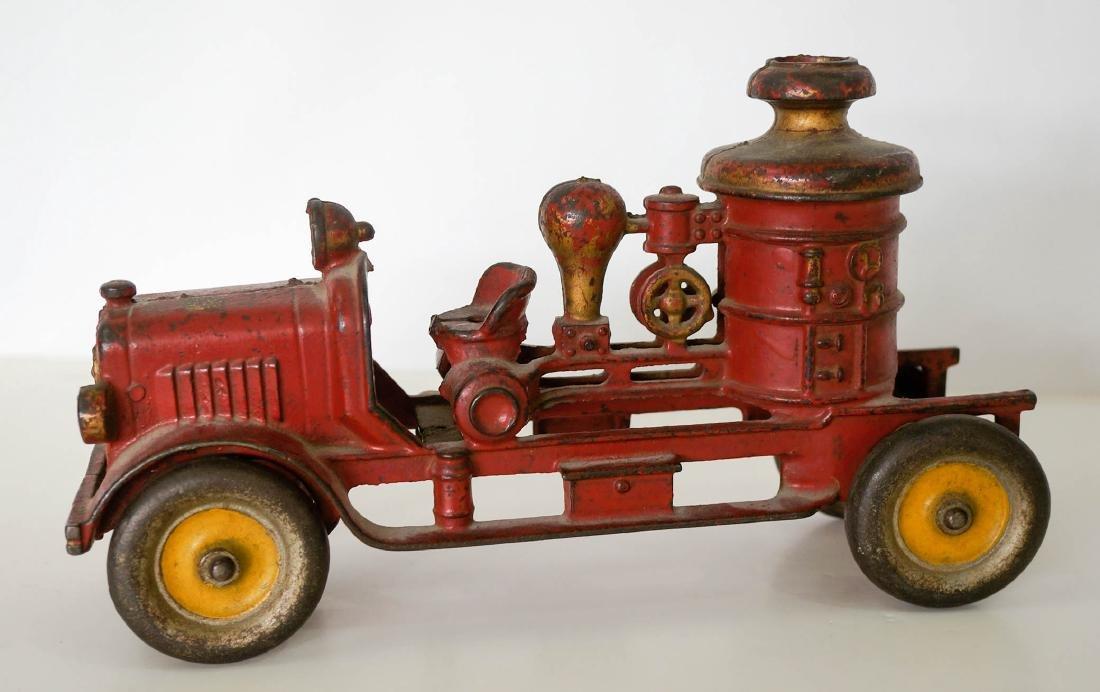 Vintage Cast Iron Fire Truck
