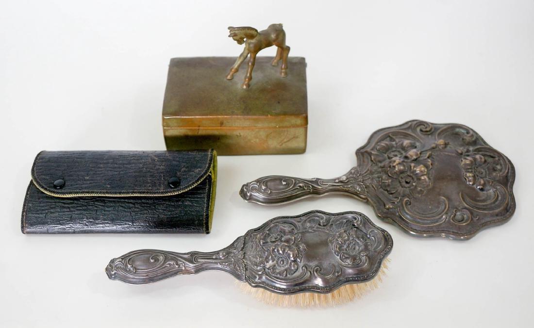 Group of Vintage Vanity Items, SP Hand Mirror