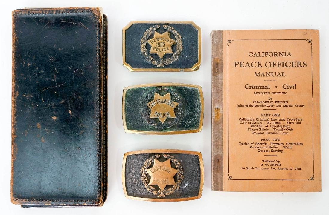 Group of Vintage California Police Memorabilia