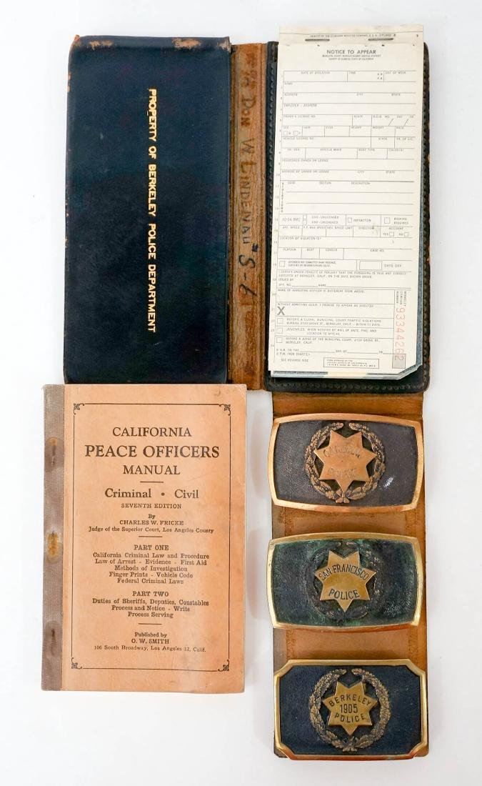 Group of Vintage California Police Memorabilia - 4