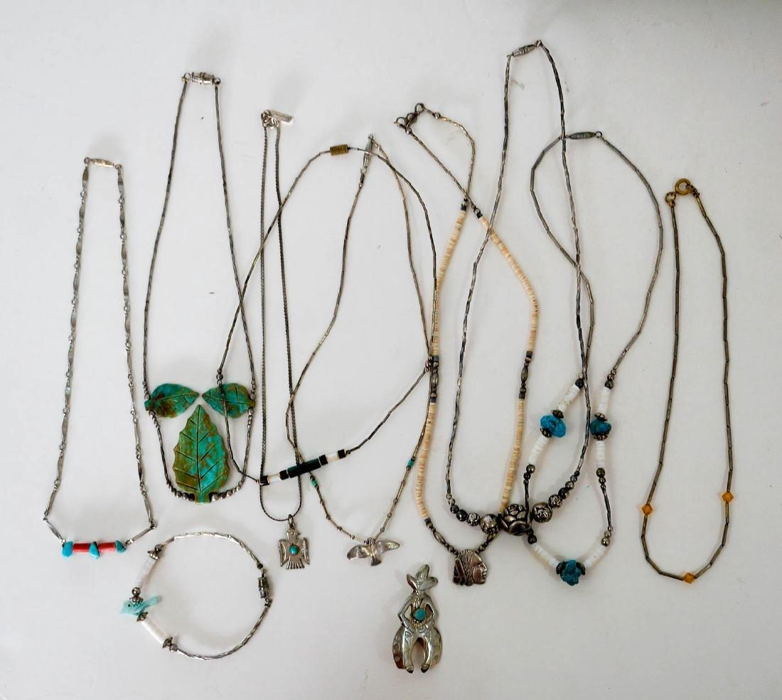 Southwest Silver and Turquoise Necklaces