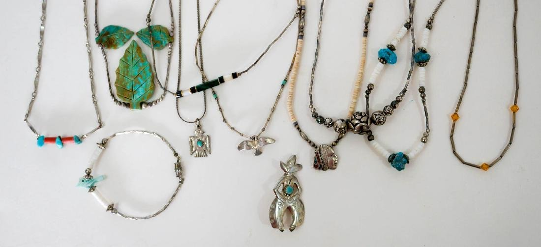 Southwest Silver and Turquoise Necklaces - 2