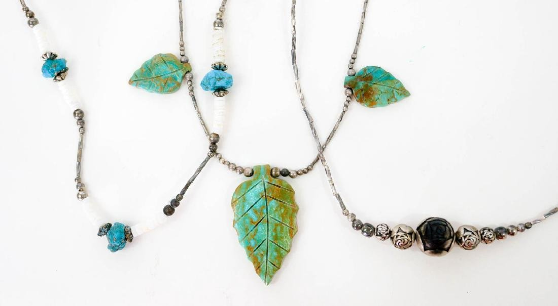 Southwest Silver and Turquoise Necklaces - 3