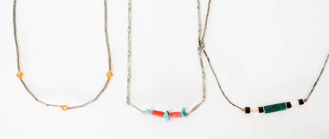 Southwest Silver and Turquoise Necklaces - 5